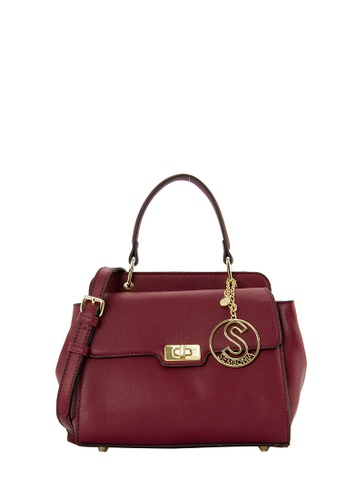 SEMBONIA red SEMBONIA Synthetic Leather Satchel Bag B89CDAC96A81FEGS_1