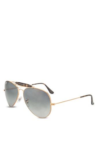 Ray-Ban brown Outdoorsman II RB3029 Sunglasses RA896GL93GRMMY_1