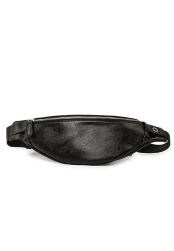 Lara black Men's Cross Body Belt Bag - Black F616EAC508CD47GS_1