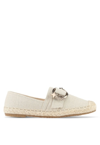 Mimosa beige Star Embroidery Espadrille Flats 32B2BSHEE78427GS_1