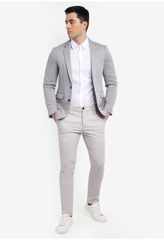 1fe97a079774 Burton Menswear London Navy Slim Fit Jersey Stretch Blazer HK  620.00.  Sizes 36R 38R 40R 42R