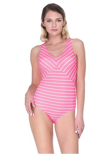 Sunseeker pink Bubble Marine One-piece Swimsuit 53495US83D0A53GS_1