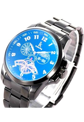 Ik Colouring Ik Colouring Elegant Big Screen Men Automatic Movement Mechanical Watch Black Strap IK781AC18MTLMY_1