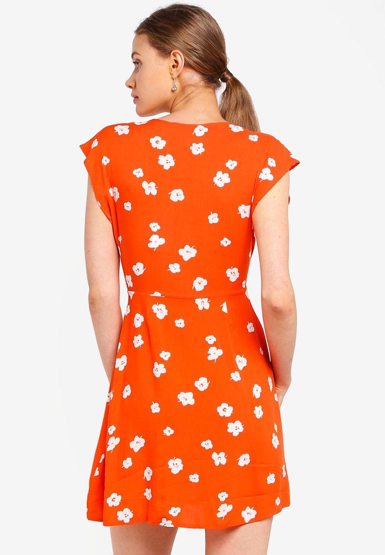 Front Sunset Dress Floral Tie Poppy Orange Supre Fpp7qxwg