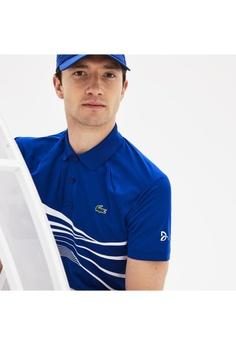 8ffb02542 Lacoste Men s Lacoste SPORT Novak Djokovic Collection Graphic Print Tech  Jersey Polo Shirt - DH3387-10 S  2