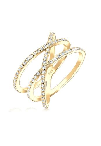 ELLI GERMANY gold Elli Germany Ring 925 Sterling Silver Gold-Plated Swarovski Crystal 6FAFAAC7828CAFGS_1