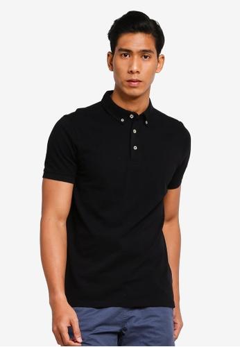 OVS 黑色 Basic POLO衫 10E82AA284878CGS_1