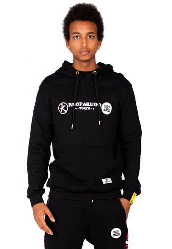 Reoparudo 黑色 RPD 年度限量版迷彩圓形印花有帽衛衣 (黑色) 2099BAA763454FGS_1
