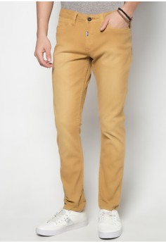 Low Rise Slim Non Denim Pants