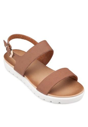 zalora 台灣平底繞踝涼鞋, 女鞋, 鞋