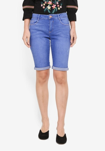 Dorothy Perkins blue Bright Blue Knee Shorts 91849AA4868A9EGS_1