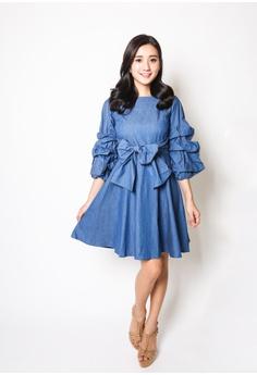 82309adad55 Kiss   Tell blue Nora Dress in Dark Denim 4C6F2AAAB725B5GS 1