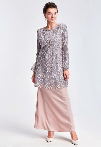 Era Maya grey and pink Pretty in Lace Pastel Purple Pink Premium Baju Kurung Moden 482EFAA0C01BBAGS_1