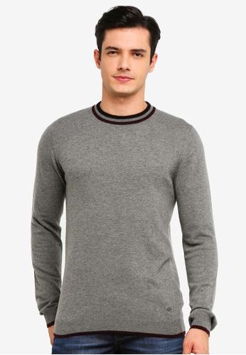 !Solid 灰色 Simon 羊毛 Mix 針織Sweater 8FA62AAF43455AGS_1