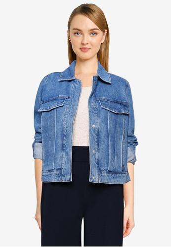 JACQUELINE DE YONG blue Tally Life Jacket D68A8AAB8EE6C2GS_1