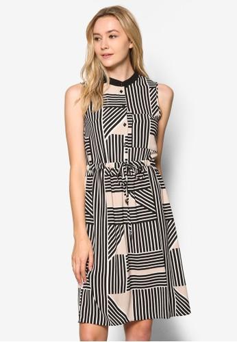 Peesprit hk outlettite 條紋襯衫式洋裝, 服飾, 洋裝