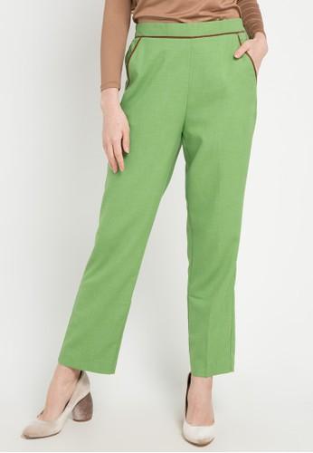 OMARA green Sabrina Pants DB741AAFC150E5GS_1