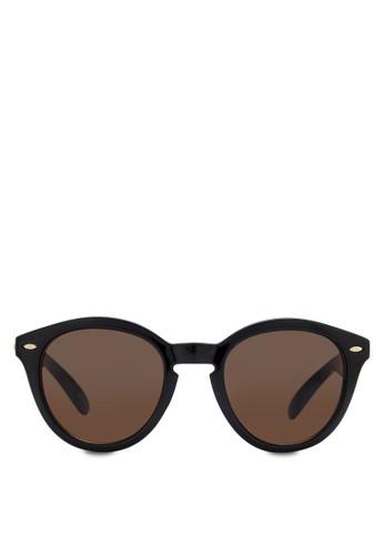 簡約圓框zalora 折扣碼太陽眼鏡, 飾品配件, 復古框