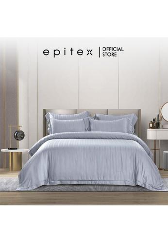 Epitex grey Epitex MD3029 1200TC Modal Dobby Fitted Sheet Set - Bedsheet Set - Bedding Set (Iris Grey) - (w quilt cover) 535BEHL1A3413FGS_1