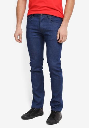 threads by the produce 藍色 Slim Straight Jeans CEBB0AAC80E26FGS_1