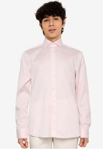 MANGO Man 粉紅色 修身Fit Structured Tailored 襯衫 09A43AA88B02C7GS_1