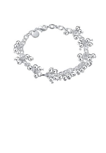 Glamorousky silver Simple Beaded Grape Bracelet DCC98AC6567E03GS_1