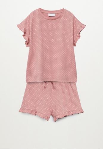 MANGO KIDS pink Printed Short Pyjamas 59F19KA00F0722GS_1