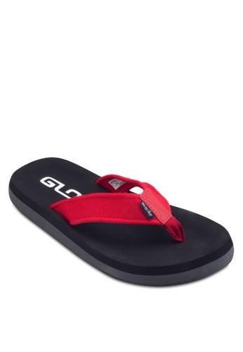 撞色布料夾腳zalora 包包評價拖鞋, 鞋, 鞋