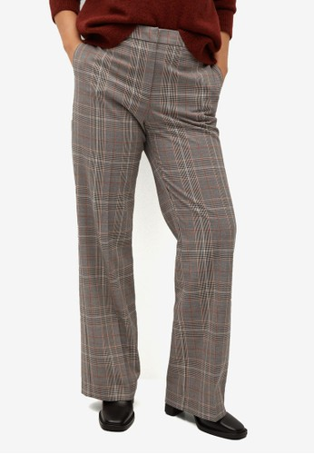 Violeta by MANGO brown Plus Size High-Waist Straight Trousers 190D6AA40DC157GS_1