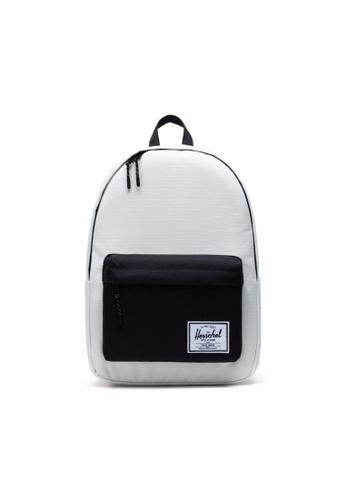 Herschel black and white Herschel Unisex Classic XL Backpack Blanc De Blanc Ripstop/Black -30L D10DBACFC94FB6GS_1