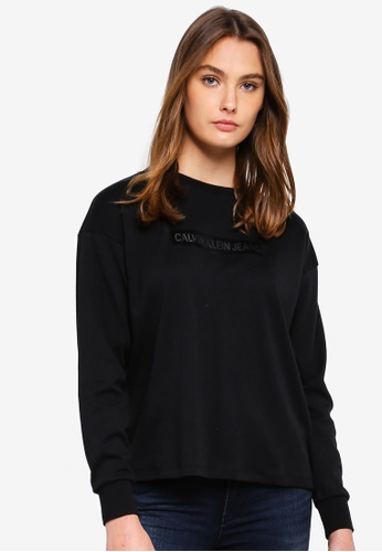 Calvin Klein black Long Sleeve Fashion Logo Tee - Calvin Klein Jeans 6F722AAD2C36D9GS_1