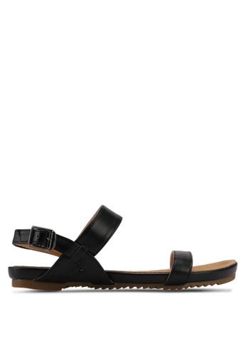 Mimosa black Strap Sandals D0A32SH8B30F2FGS_1