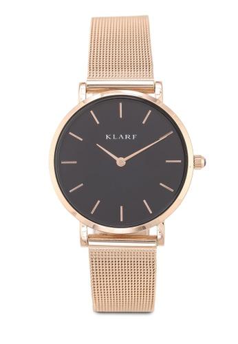 Klarf gold Petite Watch With Mesh Bracelet BBA97ACFA7EC23GS_1