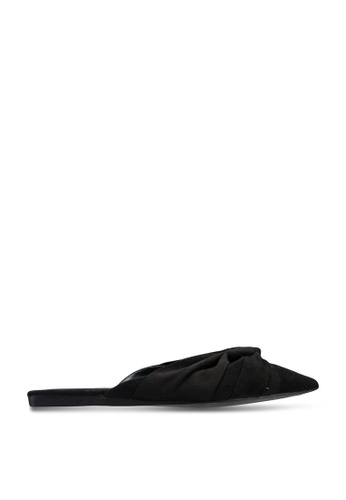 nose black Flat Mule With Knot 763F5SH07F68ADGS_1