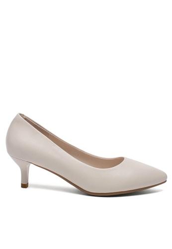 Twenty Eight Shoes white 5CM Leather Uniform Pointy Pumps 1656-1 6238ASHE94D66BGS_1