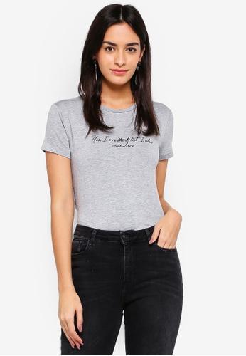 Mango grey Message Flowy T-Shirt 9D75BAA3B52A62GS_1