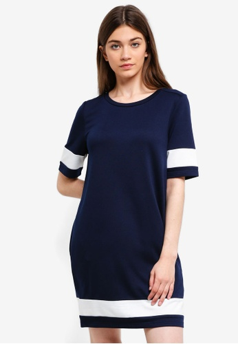 Something Borrowed navy Colorblock T-Shirt Dress 917A7AA62D52F1GS_1