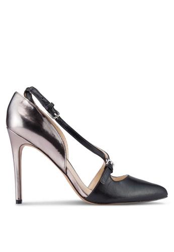 Nine West Exclusive Sale black and silver Earnest Heels NI117SH45PUCMY_1