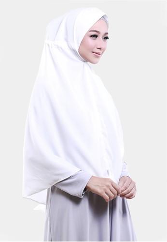 COTTON BEE white Khimar Hafzah Pet Instan Serut Diamond - White Lily 6BDAFAA7127C81GS_1