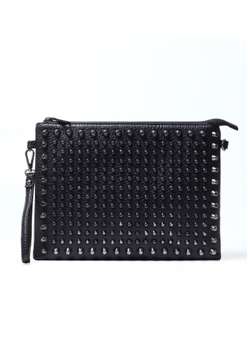Lara black Rivet Hand Bag With A Shoulder Strap BB1C6ACAFC57F8GS_1