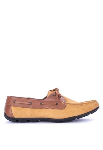 Itti brown Lace up Boat Shoes DE50CSHD1E3576GS_1