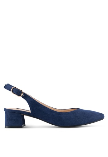 ZALORA navy Backsling Pointed Low Heels 4E274SH98F201BGS_1