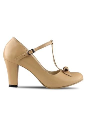 CLAYMORE beige Claymore sepatu high heels B 709T - Cream CL635SH43MJKID_1