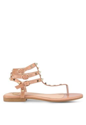 Carlton London brown Toe Post Sandals 1162DSH8BD906EGS_1