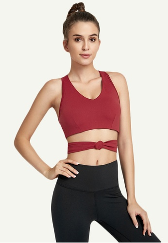B-Code red ZWG7005Lady Quick Drying Running Fitness Yoga Sports Tank Top -Red 21D2EAA3719E71GS_1
