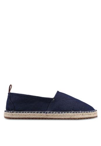 Brooks Brothers navy Dark Denim Espadrille Shoes D241BSH6079E98GS_1