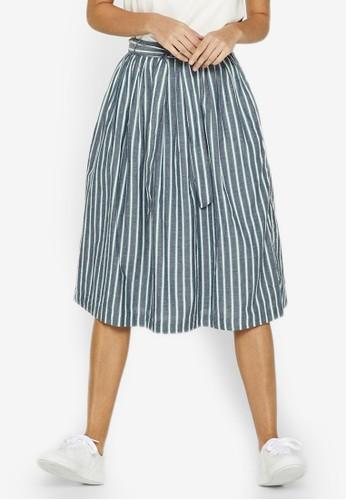 4a17b86404 Jual ESPRIT Stripe Midi Skirt Original   ZALORA Indonesia ®