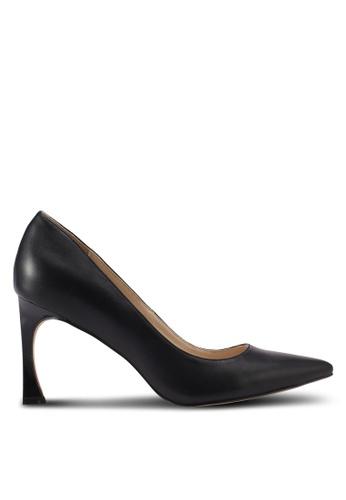 ZALORA 黑色 尖頭弧形鞋根高跟鞋 6CCF2SH218BE52GS_1