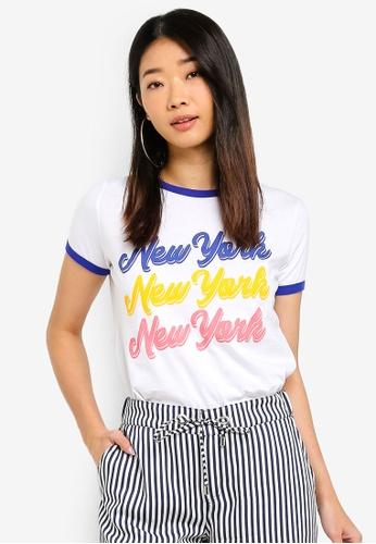 LC Waikiki 白色 印花T恤 6E202AAB7263CBGS_1