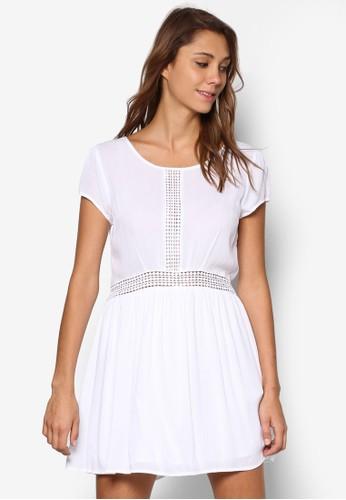 蕾絲拼接傘狀洋裝esprit分店地址, 服飾, 洋裝
